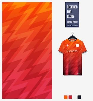 Design del modello in tessuto sportivo per maglia da calcio. sfondo astratto thuder.