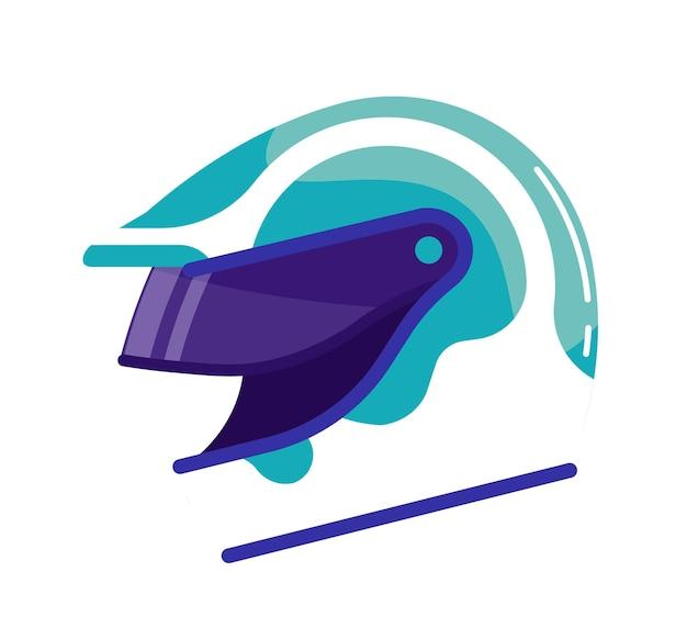 Cappello duro casco sportivo isolato su sfondo bianco