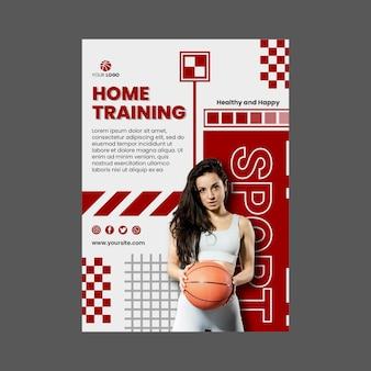 Modello di volantino per lo sport a casa