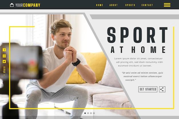 Modello di pagina di destinazione dello sport a casa