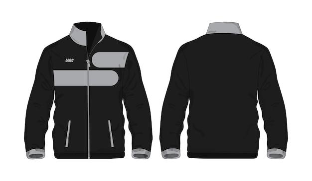 Modello di giacca sportiva grigia e nera