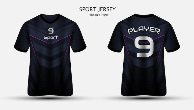 Design in jersey sportivo, carattere modificabile