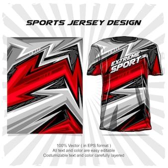 Design della maglia sportiva, disegno astratto di sport estremi