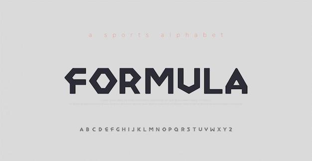 Carattere alfabeto moderno sport Vettore Premium