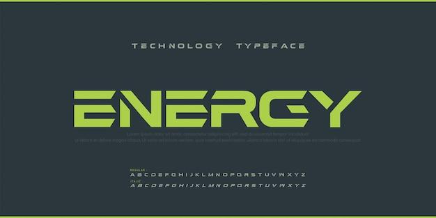 Sport modern future grassetto alphabet font. caratteri tipografici urbani in stile normale e corsivo per tecnologia, digitale, logo in stile grassetto.