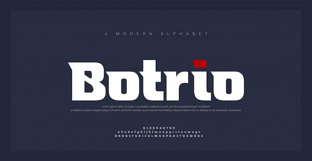 Sport modern future grassetto alphabet font. caratteri tipografici in stile urbano per tecnologia, digitale, logo in stile grassetto. illustrazione vettoriale
