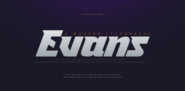 Sport modern future grassetto, corsivo alfabeto carattere. caratteri tipografici in stile urbano