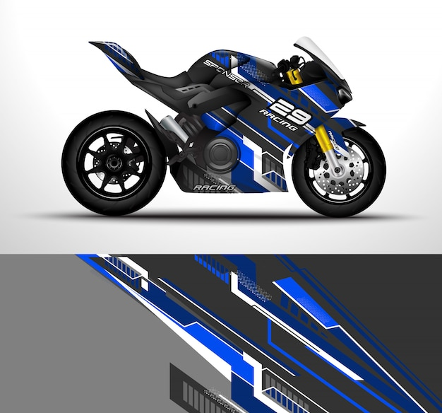 Design avvolgente per moto sportiva.