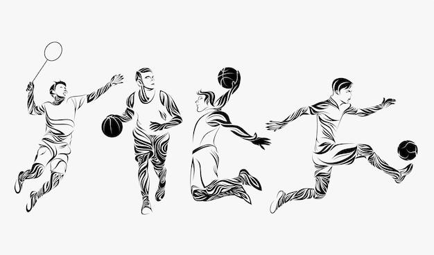 Decorazione dell'ornamento sportivo