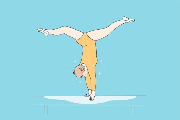 Sport, perfomance, concetto di ginnastica.