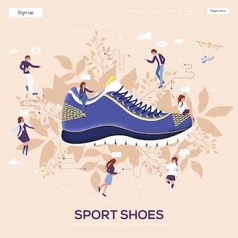 Volantino di scarpe sportive, riviste, poster, copertina di libro, banner. .