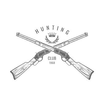 Emblema di tiro sportivo con fucili incrociati