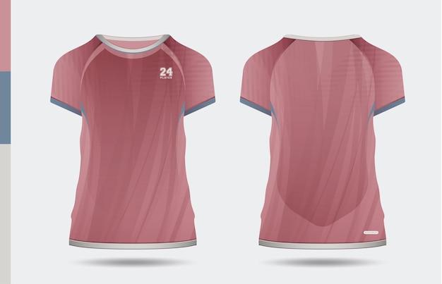 Sport elegante t-shirt rosa e abbigliamento design alla moda sagome, tipografia, stampa, illustrazione vettoriale. vista anteriore e posteriore. illustrazione di vettore eps 10.