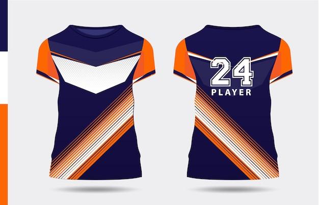 Sport elegante viola arancione bianco tshirt e abbigliamento design alla moda sagome tipografia stampa
