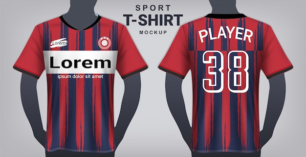 Modello di maglietta sportiva