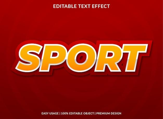 Effetto testo sportivo con stile audace
