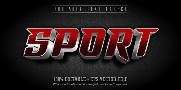 Testo sportivo, effetto di testo modificabile in stile sport