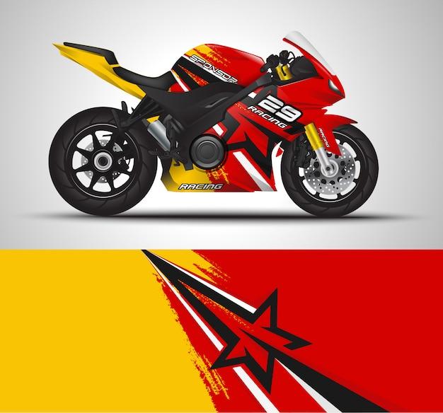 Sportbike moto motorsport e design adesivo in vinile