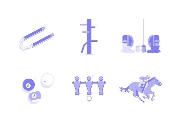 Illustrazione di sport e attività