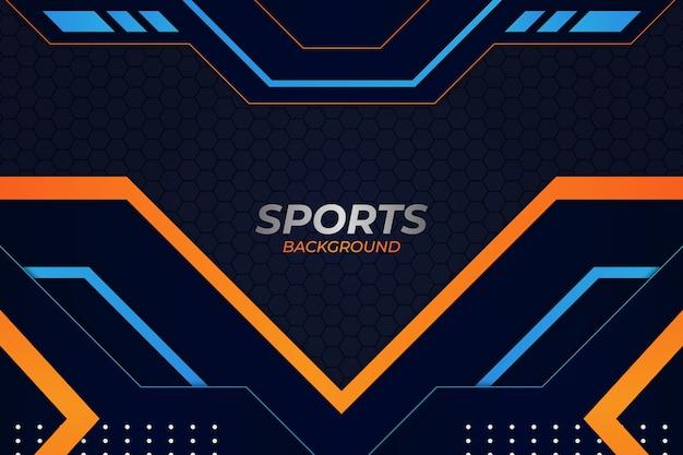 Sfondo di sport stile blu e arancione