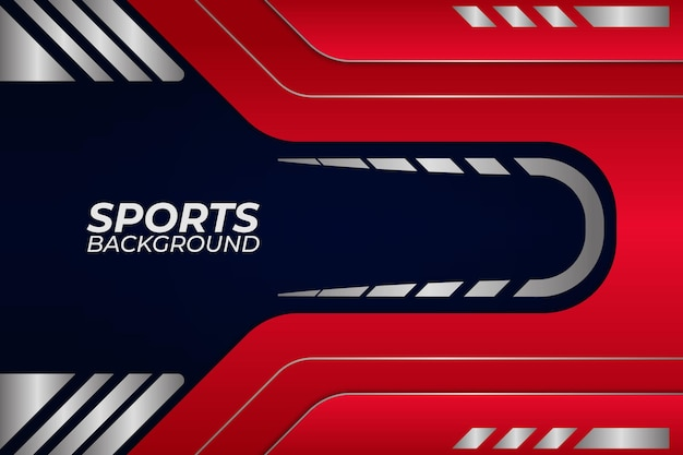 Sfondo di sport stile blu e rosso