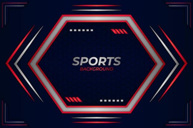 Sfondo di sport stile blu e bianco