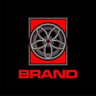 Logo di cerchi o ruote per auto sportive
