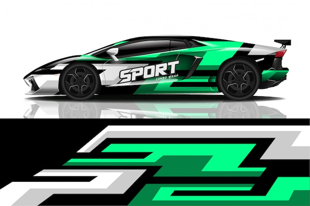 Design di decalcomanie per avvolgimento di auto sportive