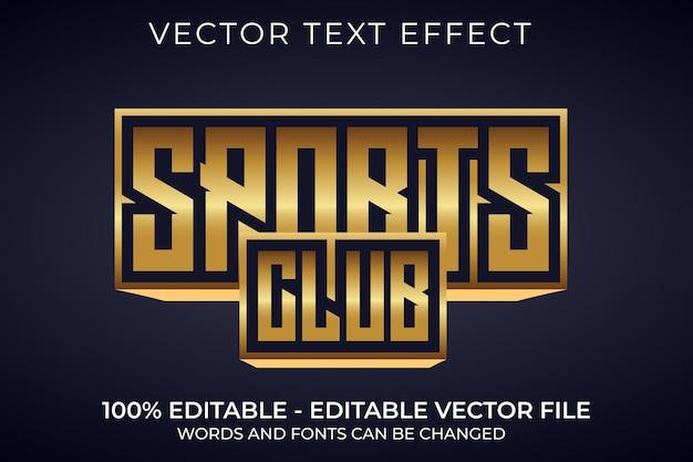 Effetto di testo 3d modificabile per club sportivo
