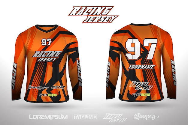 Maglia dal design sportivo per la maglia da gioco da ciclismo da corsa di calcio