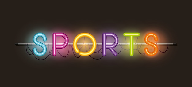 Luci sportive al neon