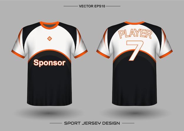 Modello di progettazione di jersey sportivo per squadra di calcio