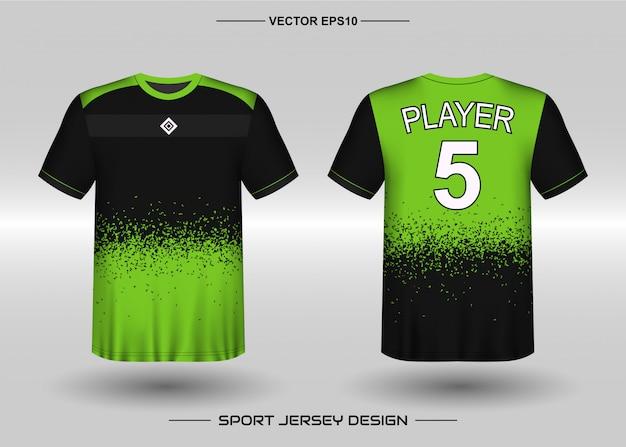 Modello di design della maglia sportiva per la squadra di calcio