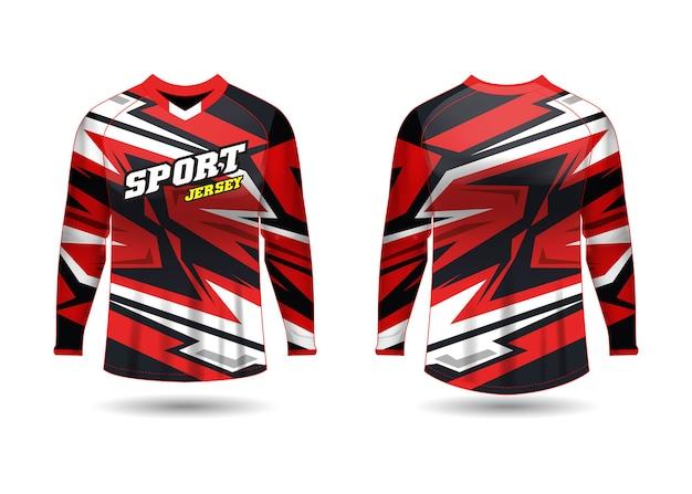 Modello di disegno di maglia sportiva per uniformi della squadra