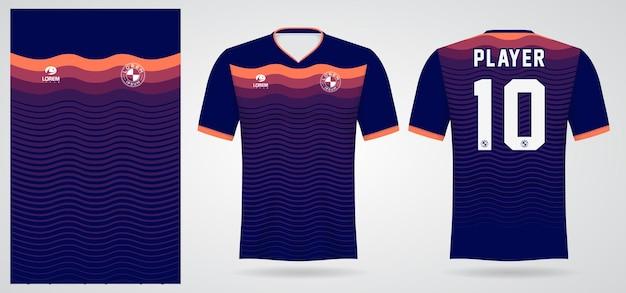 Modello di maglia sportiva per le divise della squadra e il design della maglietta da calcio
