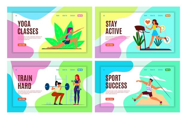 Pagina di destinazione sportiva.