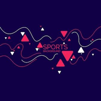 Poster sportivi macchie astratte e forme geometriche su uno sfondo