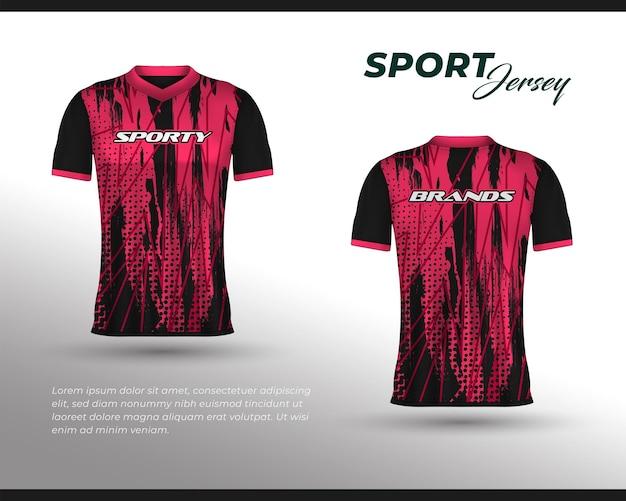 Design della maglia da corsa sportiva, design della maglietta davanti e dietro. design sportivo per la maglia da gioco da ciclismo da corsa di calcio