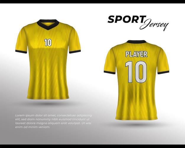 Design sportivo in jersey da corsa tshirt anteriore e posteriore