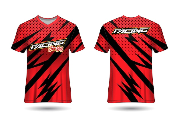 Modello di disegno di maglia da corsa sportiva per uniformi della squadra