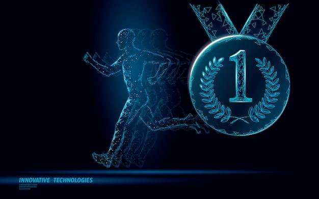 Concetto di fitness vincitore sport concorrenza corsa.