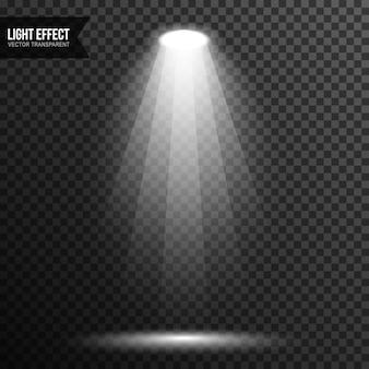 Vettore della fase di illuminazione della luce spot trasparente