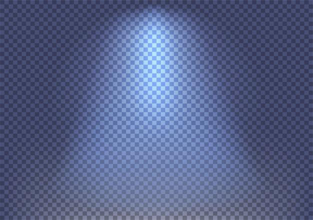 Effetto fascio riflettori su sfondo trasparente