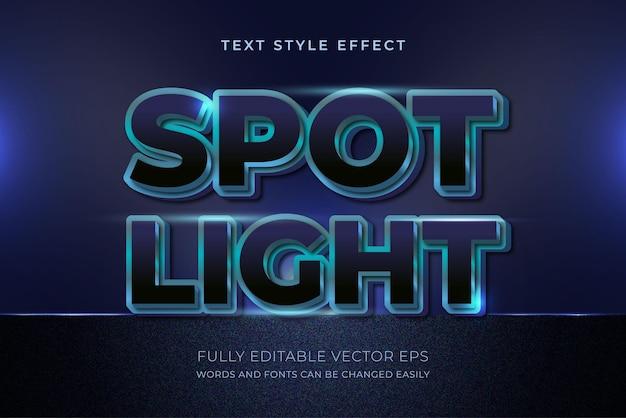 Effetto stile testo modificabile di lusso blu riflettore