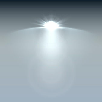 Effetti di luce di scena di faretti. vettore di riflettori luce di fase. illustrazione vettoriale