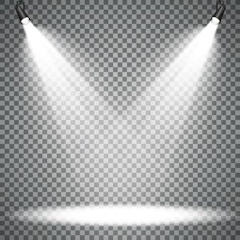 Scena di faretti con effetti di luce