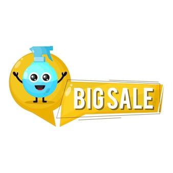 Flacone spray grande vendita simpatico personaggio mascotte