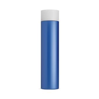 Bomboletta spray deodorante mockup bomboletta spray per capelli cilindro in latta contenitore cosmetico lacca per capelli vuota