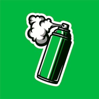 Spray can mascot logo