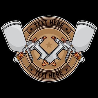 Logo design pistola a spruzzo